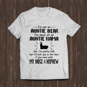 Original I'm Not An Auntie Bear I'm More Of An Auntie Llama shirt