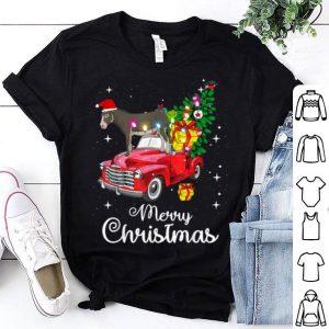 Premium Donkey Rides Red Truck Christmas Pajama sweater