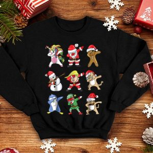 Premium Funny dabbing santa claus donald trump elf sweater