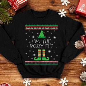 Premium I'm The Bossy Elf Ugly Christmas PJ sweater