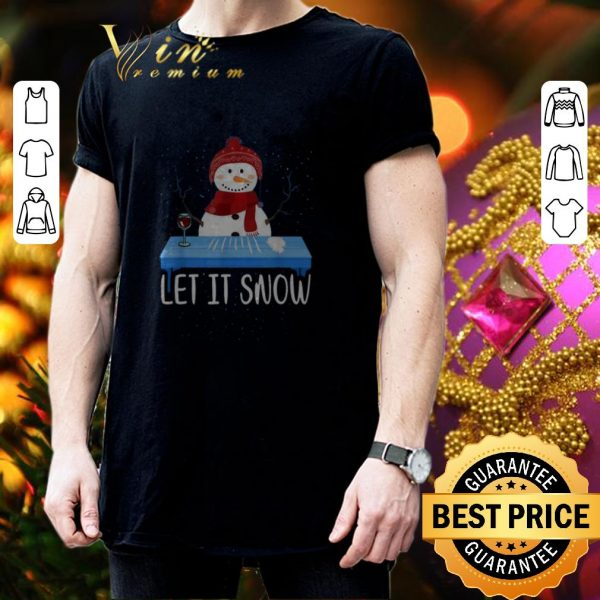Premium Santa Snowman Let It Snow Walmart Cocaine shirt
