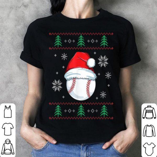 Premium Ugly Christmas Baseball Boys Kids Ball Santa Pajama sweater