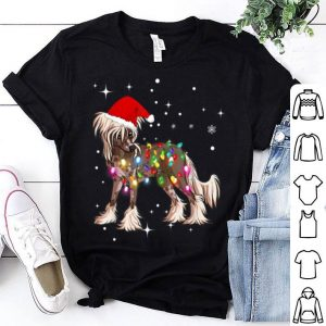 Pretty Christmas Lights Chinese Crested Dog sweater
