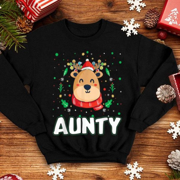 Pretty Cute Aunty Reindeer Santa Ugly Christmas Family Matching sweater
