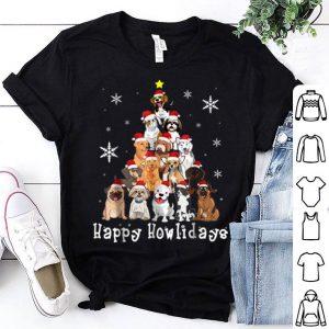 Pretty Happy Howlidays Dog Christmas Tree Dog Lover sweater