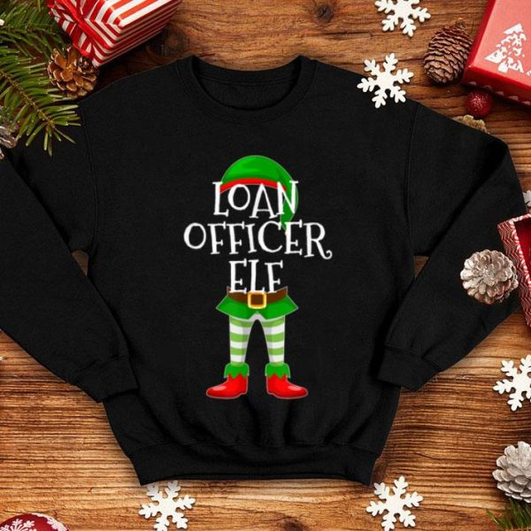 Pretty Loan Officer Elf Matching Family Christmas Gift design sweater