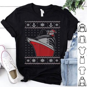 Top Christmas Cruise Ship Santa Ugly Christmas Sweater Style sweater
