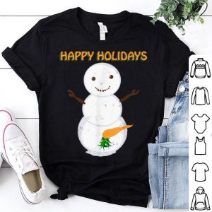Top Naughty Dirty Carrot Snowman Funny Ugly Christmas Gift sweater