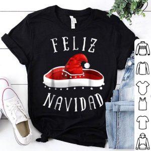 Top Santa Hat Sombrero Christmas Mexico Feliz Navidad sweater