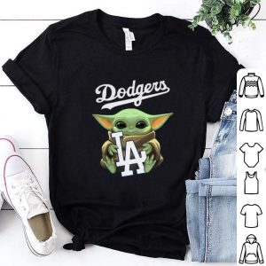 Baby Yoda hug Los Angeles Dodgers Star Wars Mandalorian shirt
