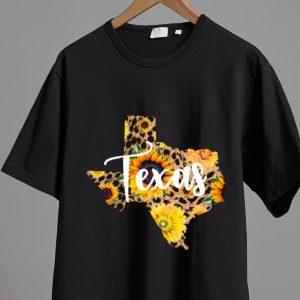 Great Texas Sunflower Wildflower State Map shirt