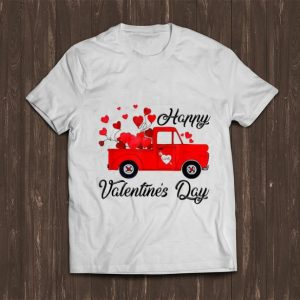 Great Vintage Red Truck Heart Love Happy Valentine's Day shirt