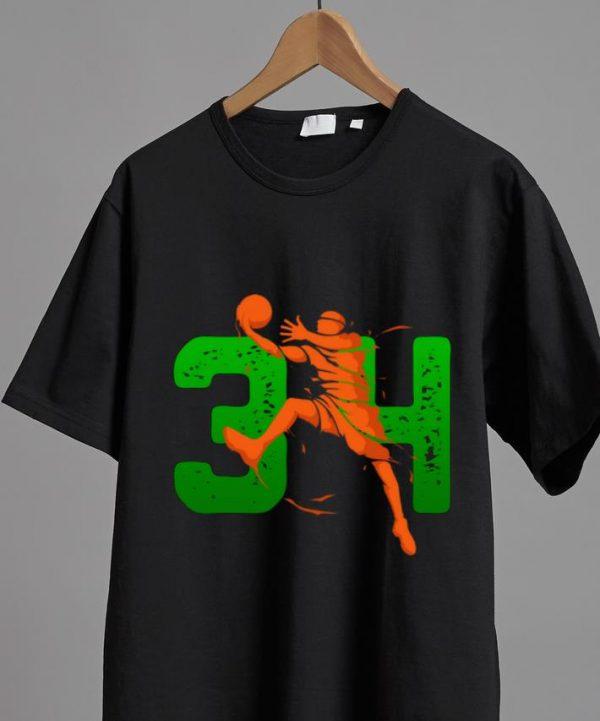 Nice 34 Player Milwaukee Basketball Lovers shirt