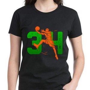 Nice 34 Player Milwaukee Basketball Lovers shirt 2
