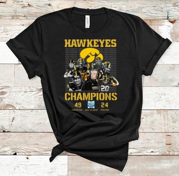 Premium Hawkeyes Bowl Champions Holiday 49 Hawkeyes 24 Trojans shirt