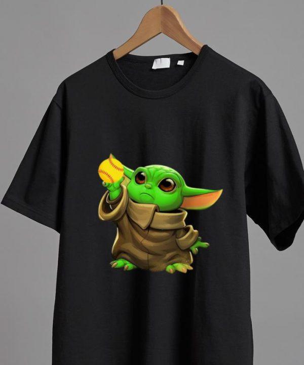 Awesome Baby Yoda Baseball shirt