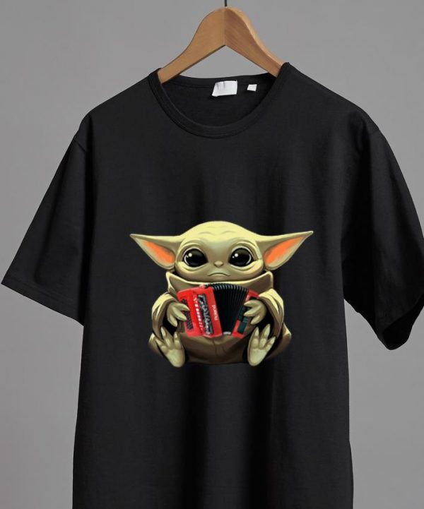 Awesome Baby Yoda Hug Accordion shirt
