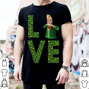 Awesome Love Bearded Dragon St Patrick's Day Shamrock Irish shirt