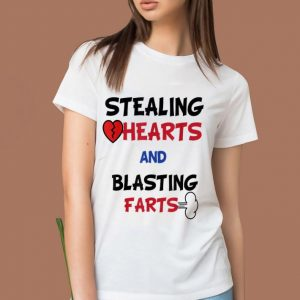 Awesome Stealing Hearts And Blasting Farts Valentine's Day shirt