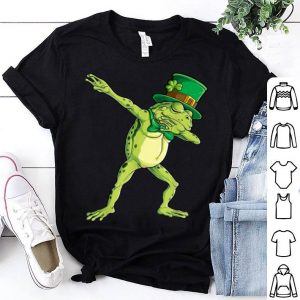 Beautiful Dabbing Frog St Patricks Day Boys Kids Leprechaun Animal Dab shirt
