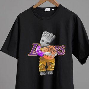 Hot Baby Groot Hug Basketball Kobe Bryant Signature shirt 1