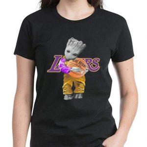 Hot Baby Groot Hug Basketball Kobe Bryant Signature shirt 2