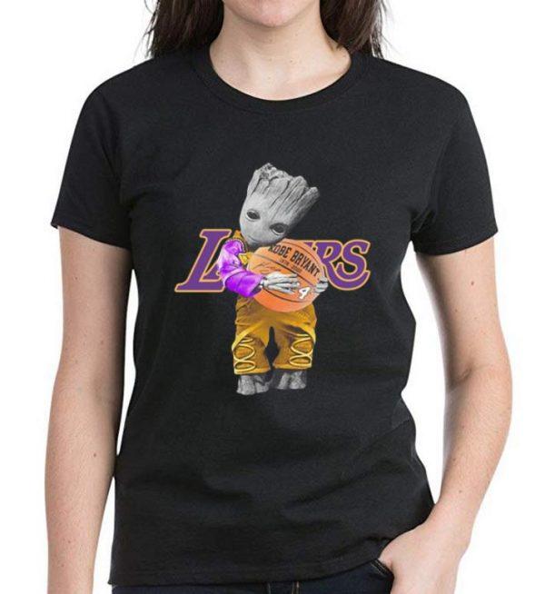 Hot Baby Groot Hug Basketball Kobe Bryant Signature shirt