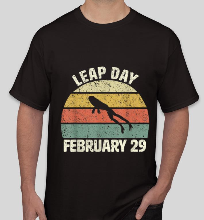 Hot Leap Day Frog February 29 Vintage shirt 4 - Hot Leap Day Frog February 29 Vintage shirt