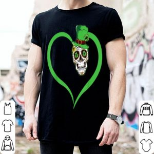 Nice Heart Sugar Skull Leprechaun Happy St Patrick's Day Gifts shirt