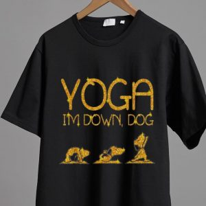 Nice Snoopy Yoga I'm Down Dog Lovers shirt 1