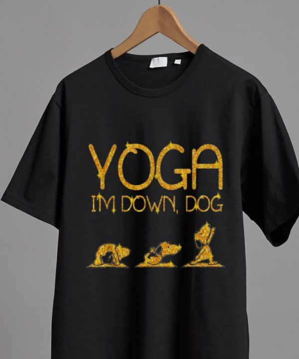 Nice Snoopy Yoga I'm Down Dog Lovers shirt