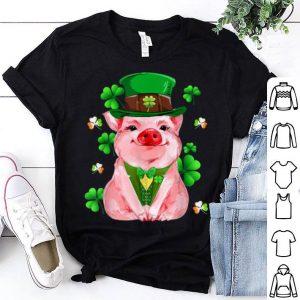 Official Cute Lucky Pig Leprechaun Irish Farmer St. Patrick's Day shirt