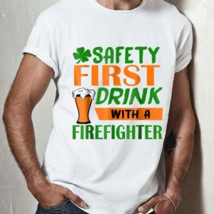 Official Safety Frist Irish Firefighter Beer St Patricks Day shirt