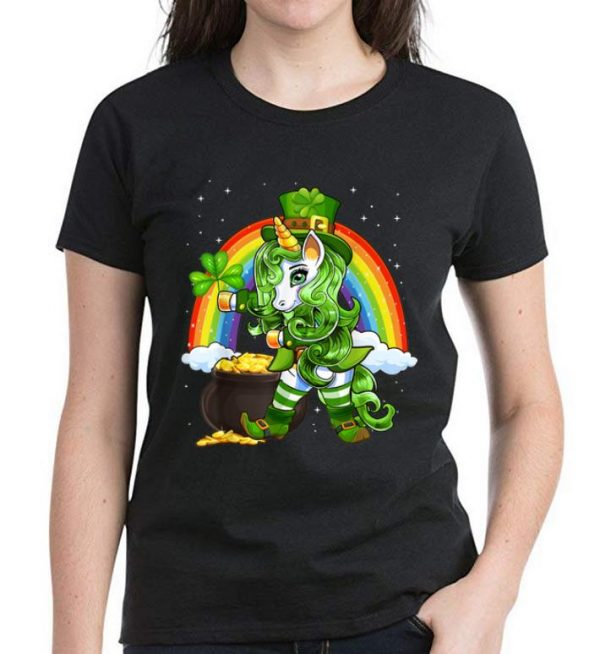 Official Shamrock Flossing Unicorn Leprechaun St. Patrick's Day shirt