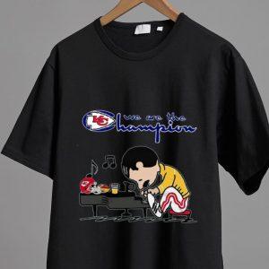 Original Freddie Mercury Peanuts Style Kansas City Chiefs We Are The Champion shirt