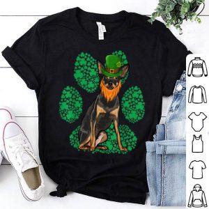 Original Leprechaun Miniature Pinscher St Patricks Day Shamrock Paw shirt