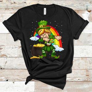 Premium Dabbing Leprechaun St. Patrick's Day Shamrock Rainbow shirt