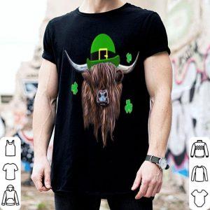 Premium Scottish Highland Cow Saint Patrick's Day Derby Hat shirt