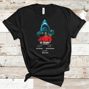 Pretty Jaws 45 years of 1975 2020 signatures shirt