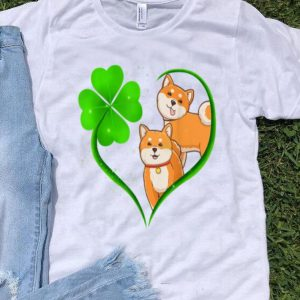 Pretty Shiba Inu Heart Shamrock Funny St Patrick's Day shirt
