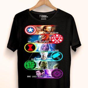 Avenger Endgame one last mission sacrifice stand fight smash shot shirt