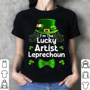 Awesome Artist Leprechaun St Patrick's Day Art Teacher Painter shirt