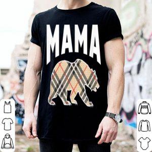 Awesome Retro Plaid Bear Mama Proud Mom Design shirt