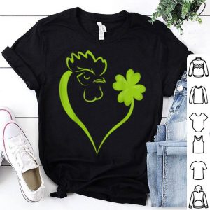 Awesome Shamrock Chicken Heart Patrick's Day Chicken Lover Irish shirt
