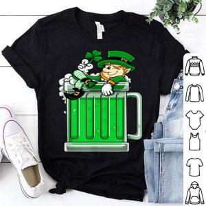 Awesome St Patricks Day Drinking Green Beer Leprechaun Men shirt