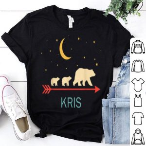 Beautiful Kris Name Gift Personalized Mama Bear With 2 Cubs shirt
