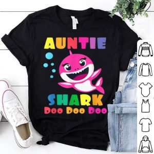 Beautiful Official Auntie Shark Funny Mothers Day Gift For Womens Mom shirt