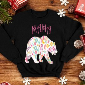 Beautiful Official Mother's Day Pink Floral Best Mama Bear Gift shirt