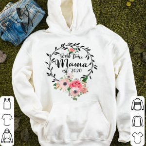 Beautiful Promoted To Mama Est 2020 - Floral First Time Mom shirt