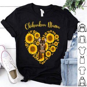 Beautiful Sunflower Heart Chihuahua Mama, Funny Mother's Day shirt